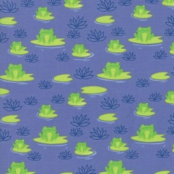Here Froggy Frog - PERIWINKLE