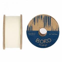 """Boro Twill Tape - (2.25""""x25yd Reel)-IVORY"""
