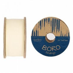 "Boro Twill Tape - (2.25""x25yd Reel) - NATURAL"