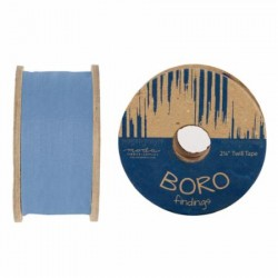 "2.25"" TWILL TAPE 25YD REEL - CHAMBRAY"