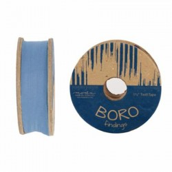 "1.5"" TWILL TAPE 25YD REEL - CHAMBRAY"