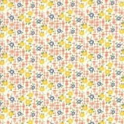 GRID FLOWERS - ORANGE