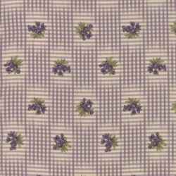 GINGHAM & FLORAL - IVORY/LILAC