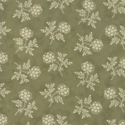 Puff Ball Floral - GREEN/IVORY