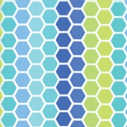 HONEYCOMB - AQUA/GREEN
