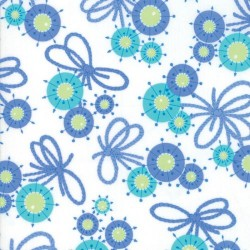 FLOWER YARN TIES - BLUE