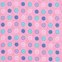 FLOWERS IN A CIRCLE - PINK