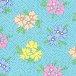 BUNCHES OF BLOOMS - TURQUOISE