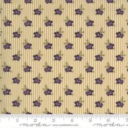 Wallpaper Stripe Flowers - IVORY