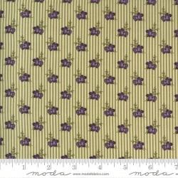 Wallpaper Stripe Flowers - IVORY - GREEN