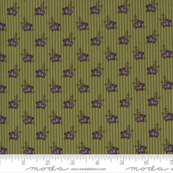 Wallpaper Stripe Flowers - GREEN