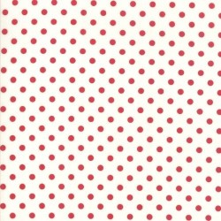 BERRY DOTS - CREAM/RED