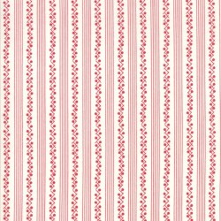 MORNING GLORIES STRIPE - CREAM/RED
