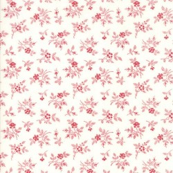 FLIRTY FLEURS - CREAM/RED