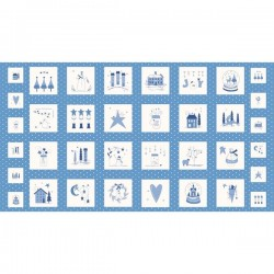 Panel - Crystal Lane 60cm - FRENCH BLUE