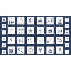 Panel - Crystal Lane 60cm - WINTER BLUE