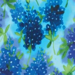 Watercolor Bluebonnets - AQUA