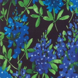 Watercolor Bluebonnets - BLACK
