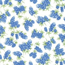 Tossed Bluebonnets - IVORY