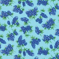 Tossed Bluebonnets - AQUA