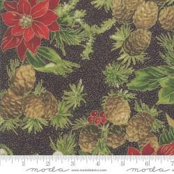Poinsettias & Pine - EBONY