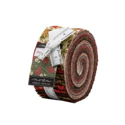 Poinssettia & Pine Metallic Jelly Roll