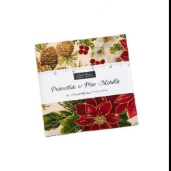 Poinssettia & Pine Metallic Charm Pack