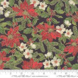Poinsettias & Holly - EBONY