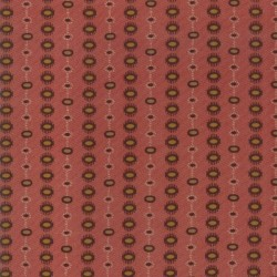 DOTTED STRIPE - BRICK RED
