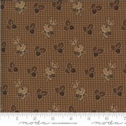 Rose and Tri-Leaf - MEDIUM BROWN