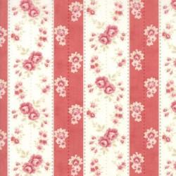 WAllpaper Stripe - CREAM/RED