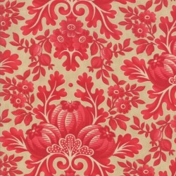 DAMASK - ALMOND/CRANBERRY