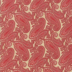 PAISLEY - ALMOND/CRANBERRY