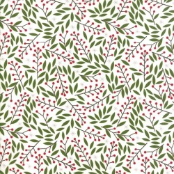 HOLLY BERRIES - SNOW