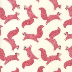 SQUIRRELS - CREAM/RED