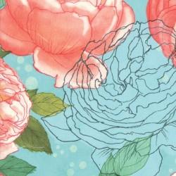 Cabbagge Rose - SEAFOAM