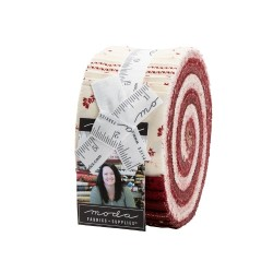 Redwork Gatherings Jelly Roll
