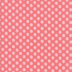 WHITEWASHED DOTS - RASPBERRY