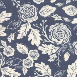 Harvest Floral - INDIGO/EGGSHELL