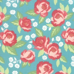 Faded Blooms - TEAL