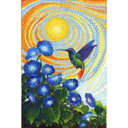 Panel - Morning Glory Humming Bird 72cm - MULTI