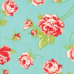 "ROSY 54"" COTTON LAWN - AQUA"