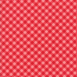 LITTLE BIAS GINGHAM - RED/CORAL