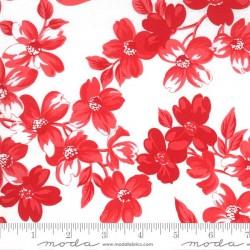 Full Bloom - WHITE - RED