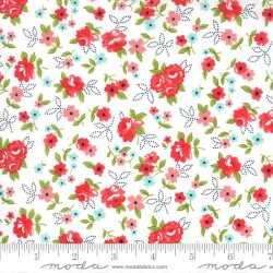 Little Floral - WHITE/RED