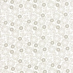 DOT FLOWER - WHITE/TAUPE
