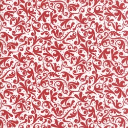 SWIRL - WHITE/RED