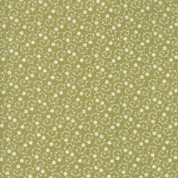 TINY FLORAL SWIRL - GREEN