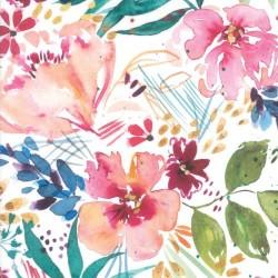 Flower Party Digital - WHITE