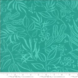 "Leaf it to me Knit Prints 60"" -  TURQUOISE"